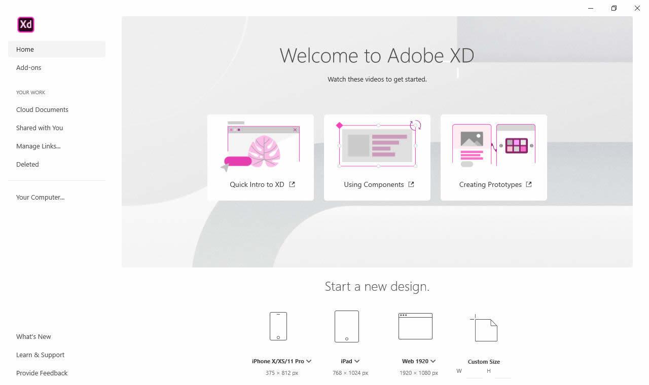 Working with Adobe XD CC 2020 v28.9.12.2 full