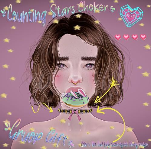 ASURA. Counting Stars Choker Gruop Gift✨