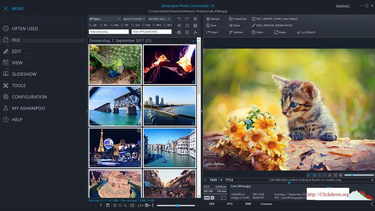 Working with Ashampoo Photo Commander 16.2.0 full