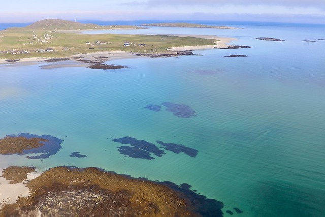View from G-SGTS DHC6 Loganair on short finals to BRR 15/8/20