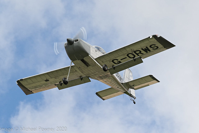 G-ORWS - 2020 build Vans RV-14, initiating a go-around at Kemble
