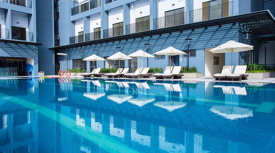 Ảnh thực tế hồ bơi tại chung cư M-One Nam Sài Gòn.