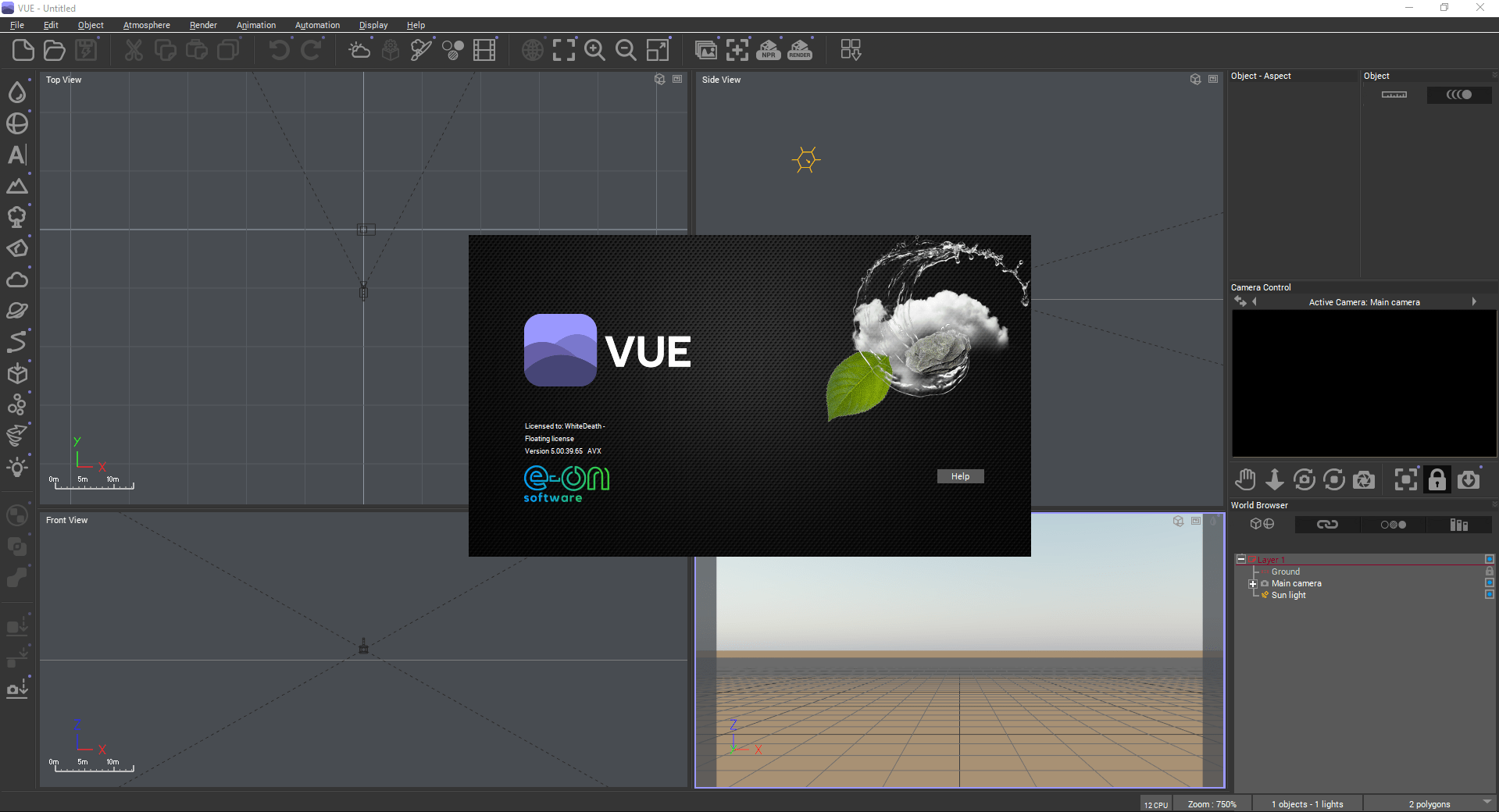 Working with e-on Vue R5.1 Build 5003965 SP full license