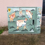 'Square Cows' UFB telecoms cabinet (LVN/BZ) mural
