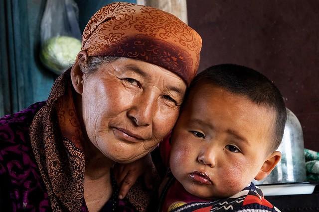 A Kyrgyz nomad family