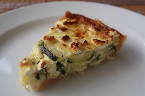 Zucchini-Tarte (mein erstes Stück)