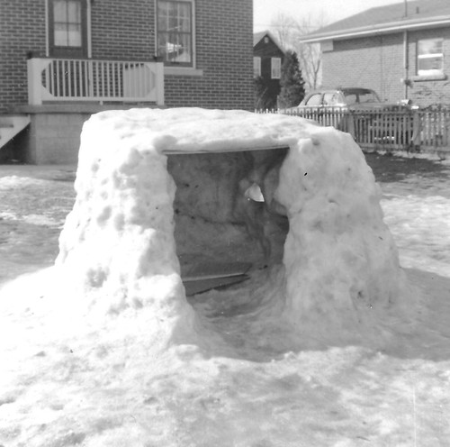 Snow Fort we built in 1958