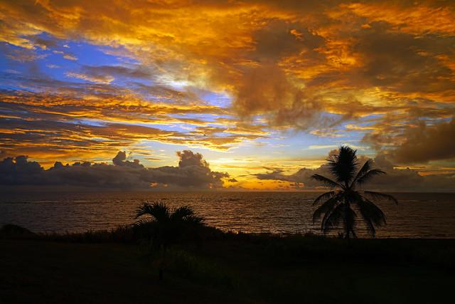 Magic of sunrise, Atlantic coast of St Kitts