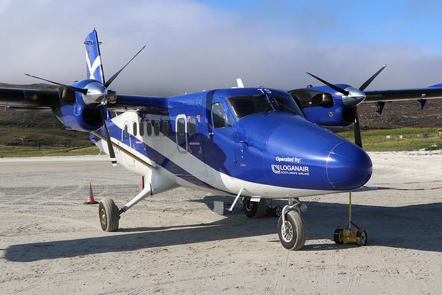 G-SGTS  -  Viking DHC6-400 Twin Otter  -  Loganair  -  BRR 15/8/20