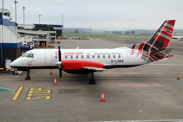 G-LGNA  -  SAAB 340B  -  Loganair  -  GLA/EGPF 15/8/20