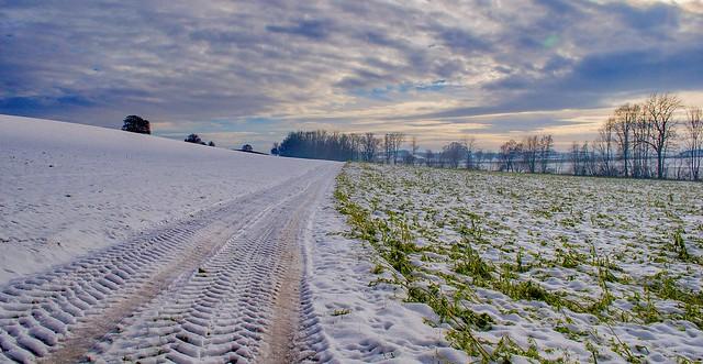 Winterlandschaft unteres Rottal, Bayern