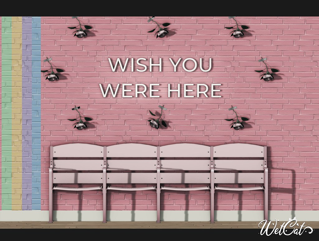 """""""Wish you were here"""" Backdrop"""