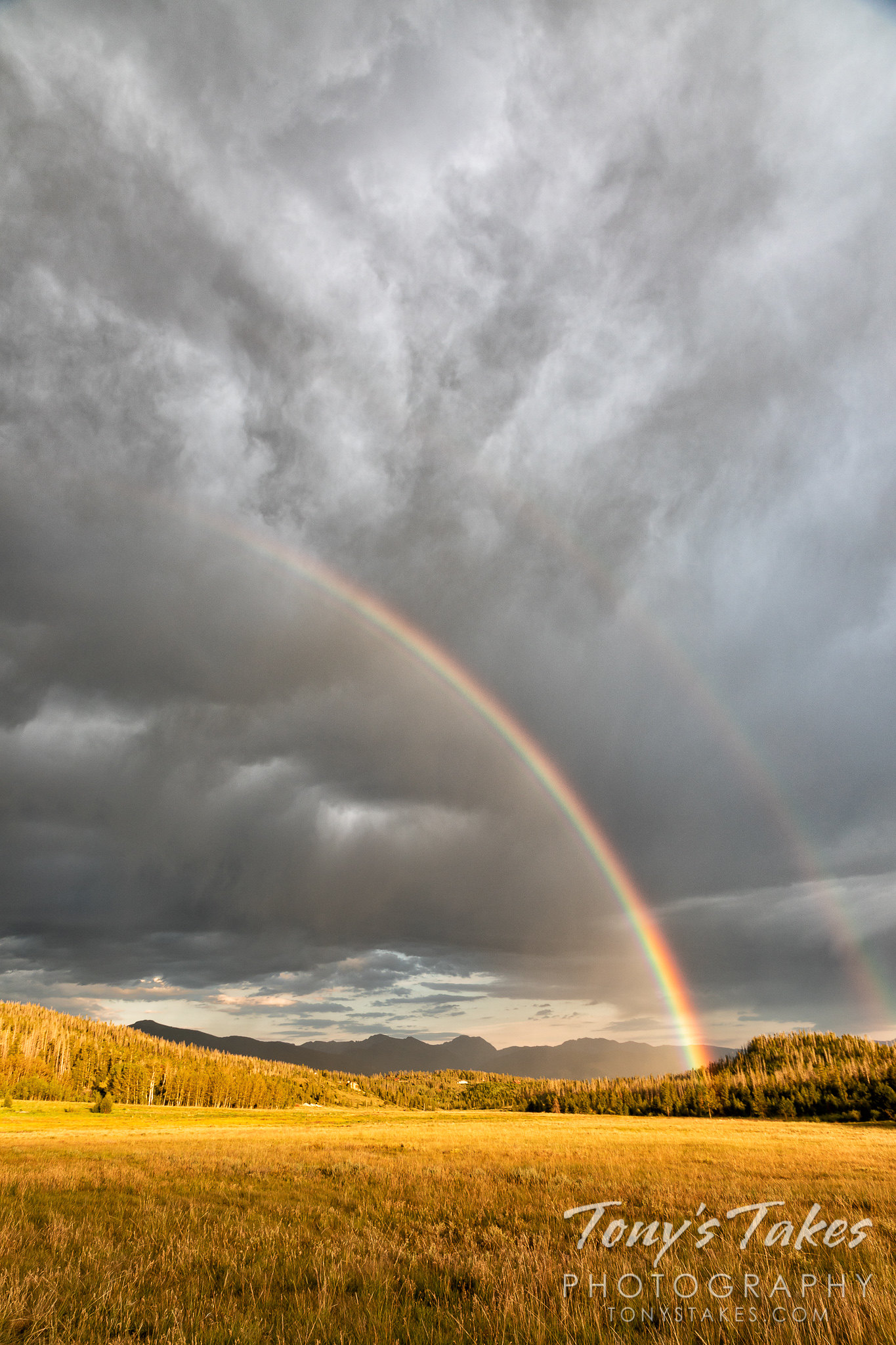 Double rainbow over the Colorado high country