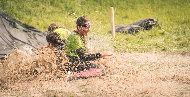 Muddy splash.