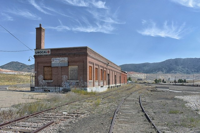 Abandoned Great Northern Railway Yards, Butte Montana