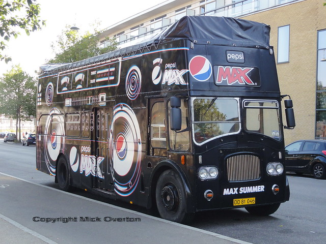 Pepsi Max DD81046 Leyland Titan Ex Southdown 413DCD in Denmark with these plates since 2008