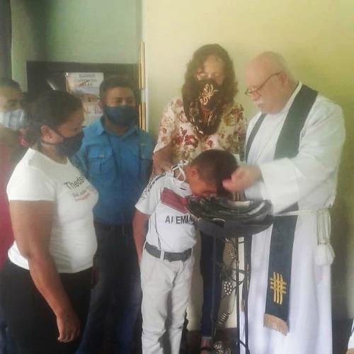 Baptism of Jose Miguel Albarran Pumar.
