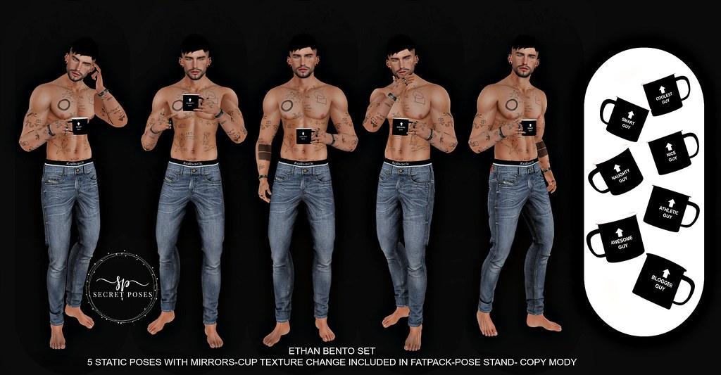 Secret Poses – Ethan @Men Only Monthly