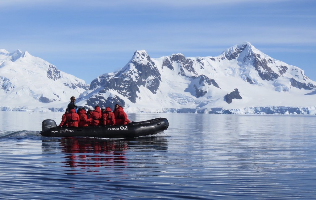 Antartica Zodiac boat.
