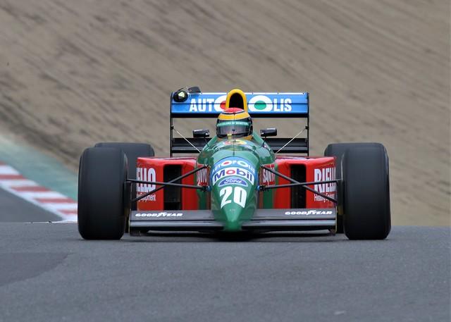 #20 Ex Nelson Piquet Benetton B190 at Brands Hatch has anyone seen my ear defenders?