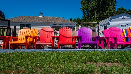 Rainbow Chairs | by ViewFromTheStreet