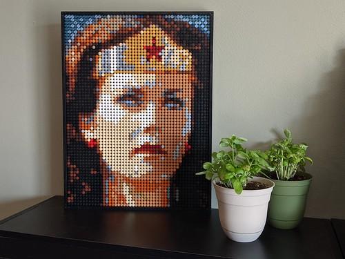 Lynda Carter as Wonder Woman - LEGO Art Style