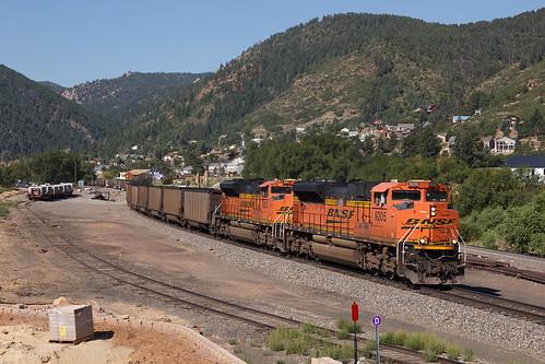 bnsf bnsf9205 emd sd70ace palmerlake colorado jointline palmerdivide train railroad