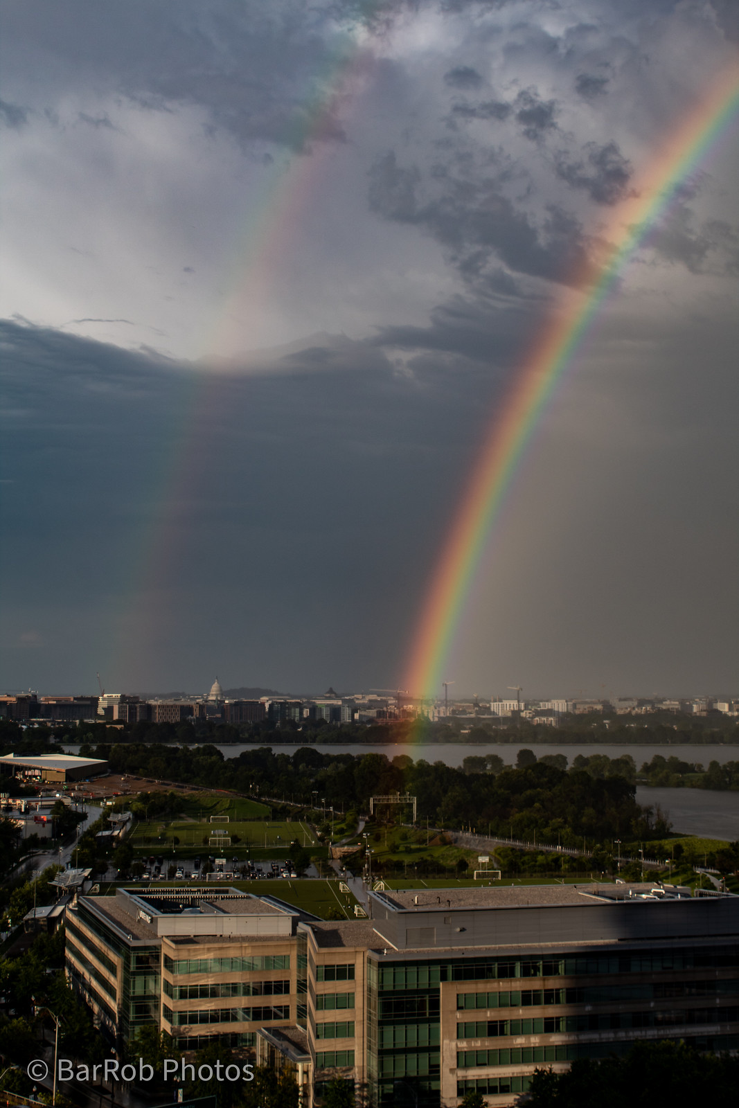 Double Rainbow over Long Bridge Park