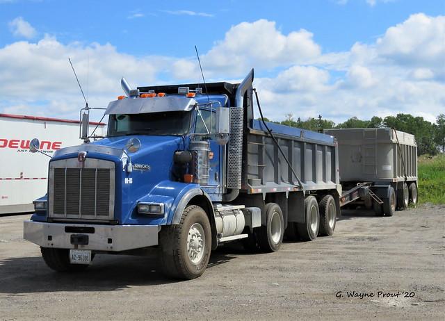 Kenworth T800 Dump Truck with Pup Trailer