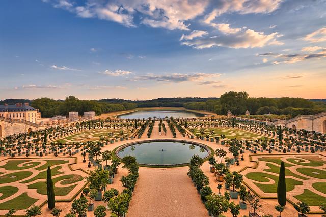 sunset over Versailles