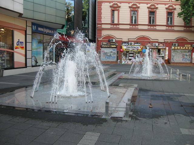 Novi Sad City Centre - Fountain