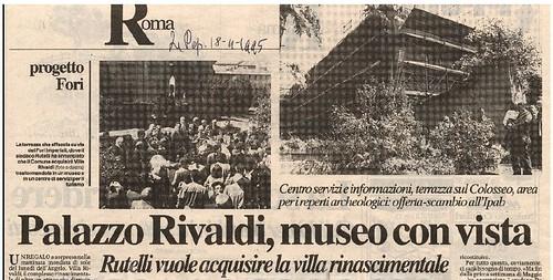ROMA ARCHEOLOGICA & RESTAURO ARCHITETTURA 2020. Palazzo Silvestri Rivaldi, la villa abbandonata con vista Fori Imperiali 1995-2020 (e Metro C). ROMA TODAY (10/08/2020); Il Fatto Quatidiano / Blog (15/07/2018) & La Repubblica (18/04/1995).
