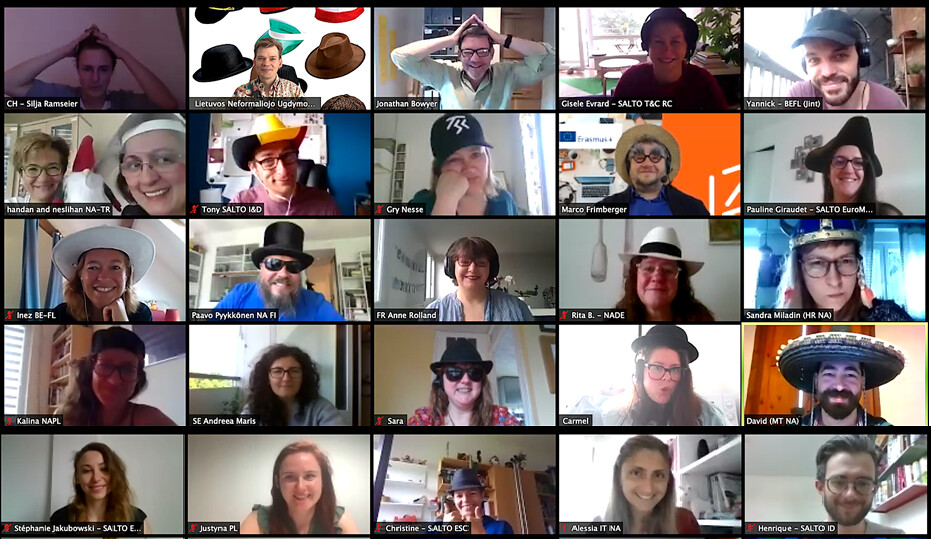 NA officers from across Europe during a Zoom meeting