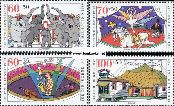 Známky Záp. Nemecko 1989 Cirkus nerazítk. séria MNH