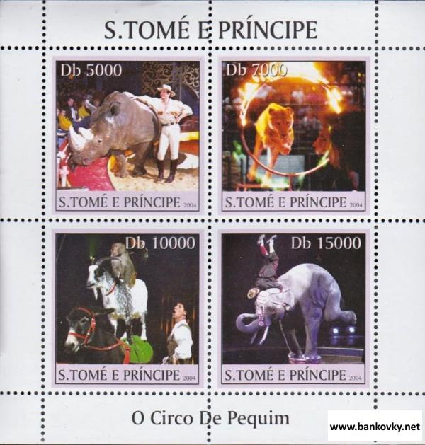 Známky Svätý Tomáš  2004 Cirkus