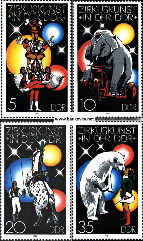 Známky NDR 1978 Cirkus