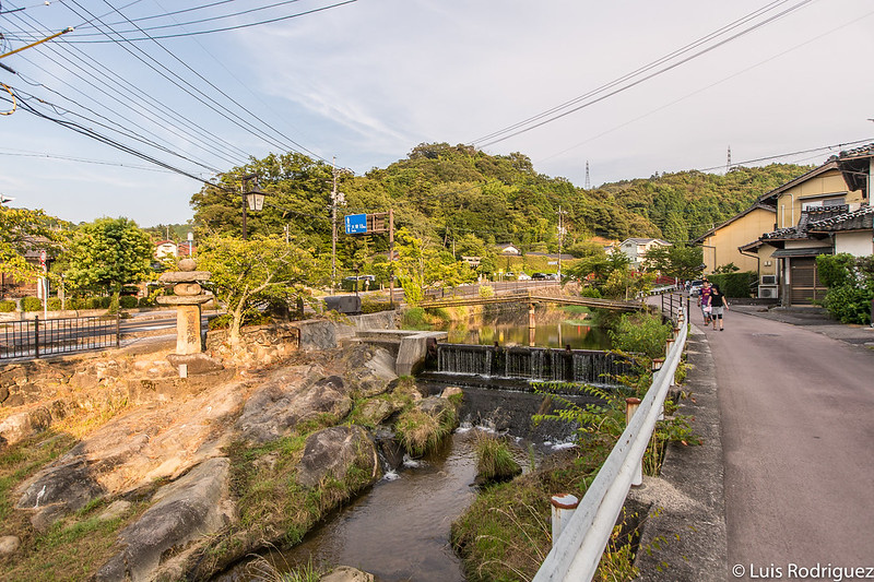 Saltos de agua del río Tamayu a su paso por Tamatsukuri Onsen