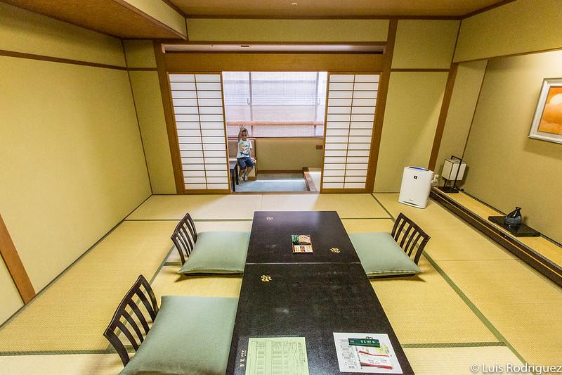 Habitación tradicional en el hotel Gyokusen