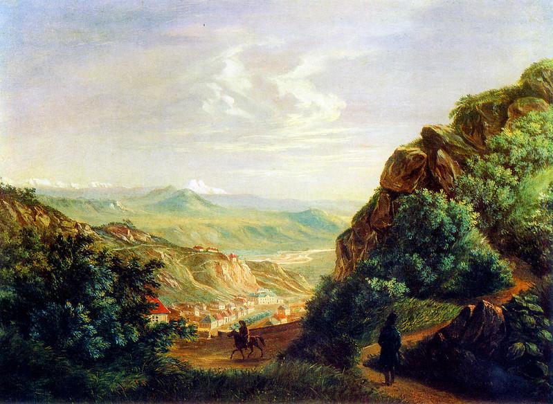Пятигорск на картине Лермонтова