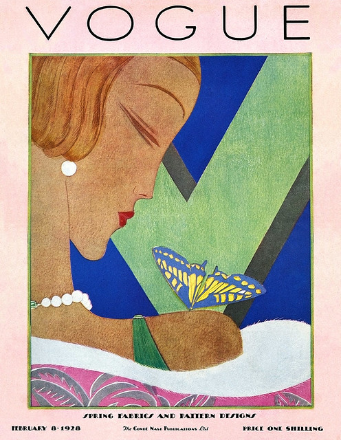 GARCÍA BENITO, Eduardo. Cover of British Vogue, Feb. 8, 1928.