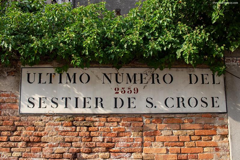 Santa Croce, Toponomastica veneziana