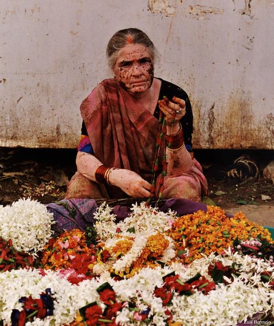 Vendedora de Ofrendas - Varanasi