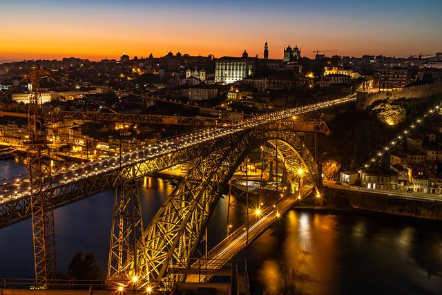 Golden hour on the bridge