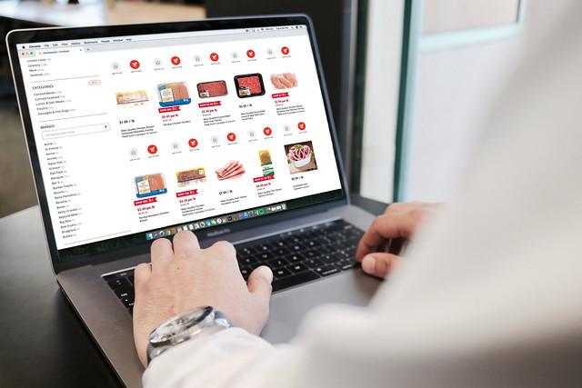A person shopping