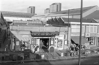 Shepherds Bush Station, Uxbridge Rd, Shepherds Bush, Hammersmith & FUlham, 1988 88-1c-42-positive_2400