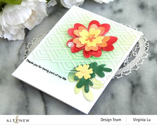 Altenew-Simple Nesting Flowers Layering Die Set-Stacked Diamonds Cover Die-002