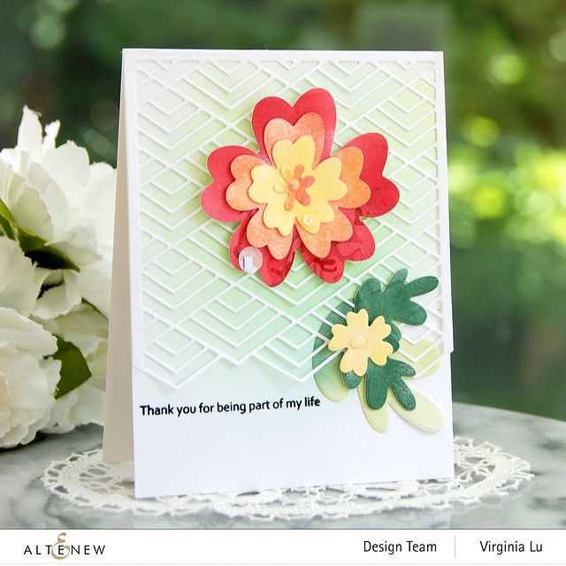 Altenew-Simple Nesting Flowers Layering Die Set-Stacked Diamonds Cover Die