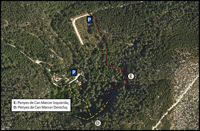 Penyes de Can Marcer -02- Sector Izquierda -01- Acceso 05 Parkings y senderos