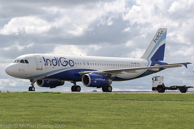 VT-INV - 2008 build Airbus A320-232, stored at Kemble