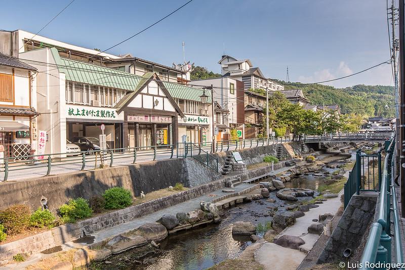 Río Tamayu y baño de pies en Tamatsukuri Onsen